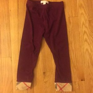 Burberry stretchy toddler maroon
